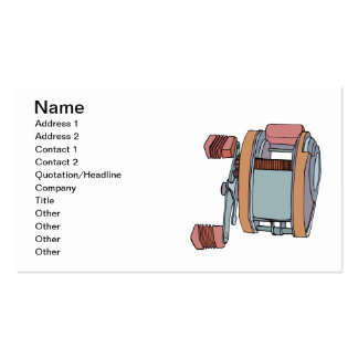 Fishing Reel Double-Sided Standard Business Cards (Pack Of 100)