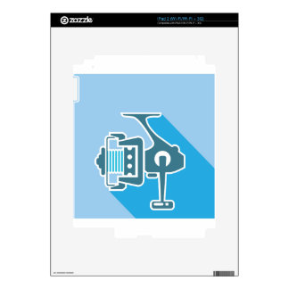 Fishing reel decals for the iPad 2