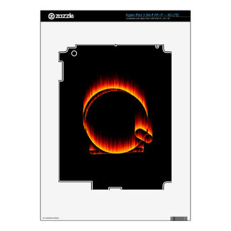 Fishing Reel on Fire Decals For iPad 3