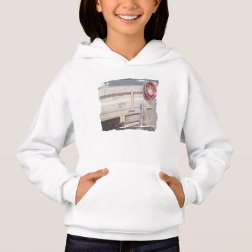Beach Themed Fishing reel red grey silver beach ute hoodie