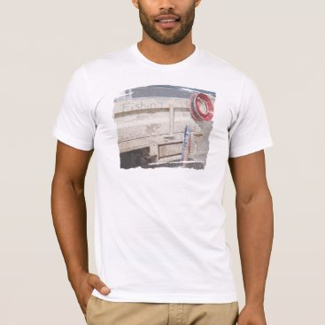 Beach Themed Fishing reel red grey silver beach ute T-Shirt
