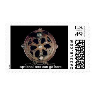 Fishing Reel Skeleton design Stamps