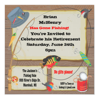 Fish fry invitations announcements zazzle for Fishing birthday party invitations
