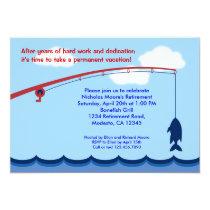 Fishing Retirement Party Invitation