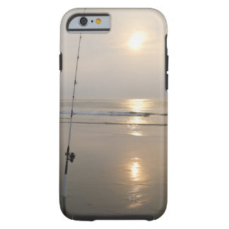 Fishing rod by the ocean in the early morning. tough iPhone 6 case