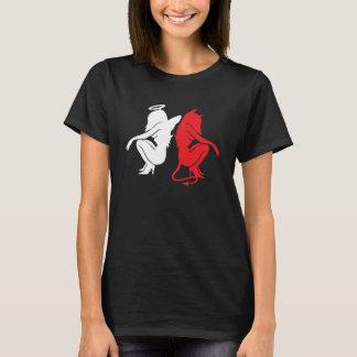 Fishing rod & Devil, angel & devil - talks Design T-Shirt