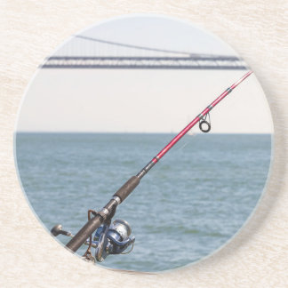 Fishing Rod on the Pier in San Francisco Bay Coaster