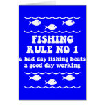 Fishing Rule No 1 Card