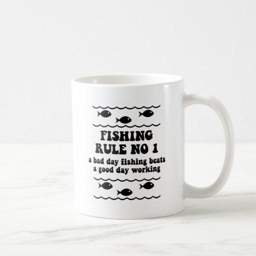 Fishing Rule No 1 Mugs