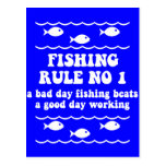 Fishing Rule No 1 Post Card