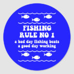 Fishing Rule No 1 Stickers