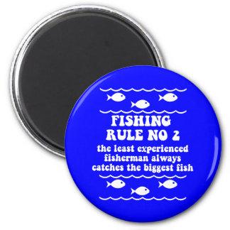 Fishing Rule No 2 Refrigerator Magnet