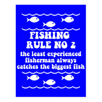 Fishing Rule No 2 Postcard