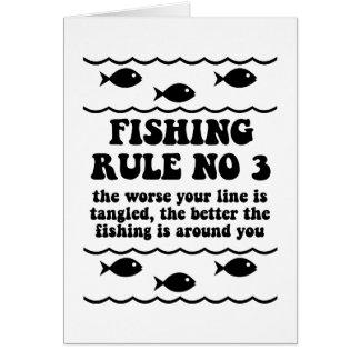 Fishing Rule No 3 Greeting Card