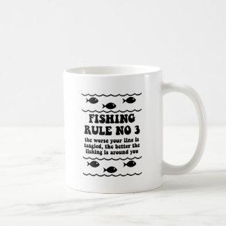 Fishing Rule No 3 Coffee Mug
