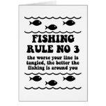 Fishing Rule No 3 Greeting Cards