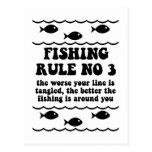 Fishing Rule No 3 Post Card