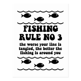 Fishing Rule No 3 Postcard