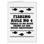 Fishing Rule No 4 Greeting Card