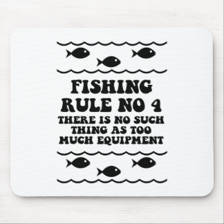 Fishing Rule No 4 Mouse Mat