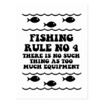 Fishing Rule No 4 Post Cards