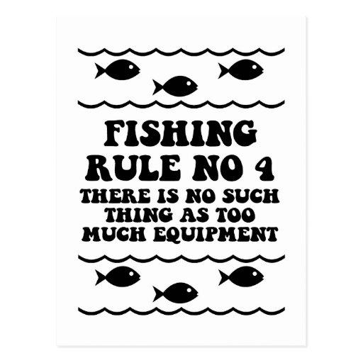 Fishing Rule No 4 Postcard