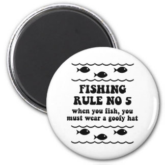 Fishing Rule No 5 2 Inch Round Magnet