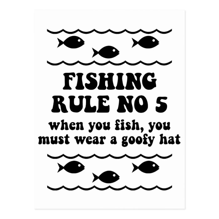 Fishing Rule No 5 Postcard
