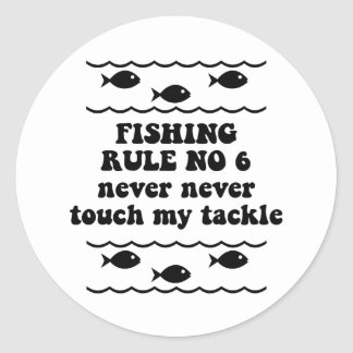 Fishing Rule No 6 Sticker