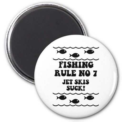 Fishing Rule No 7 2 Inch Round Magnet