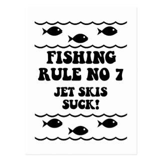 Fishing Rule No 7 Postcard