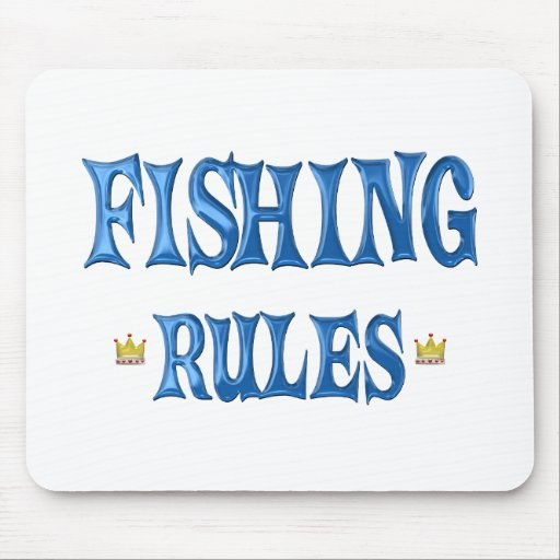 Fishing Rules Mouse Pad