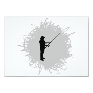 Fishing Scribble Style Card