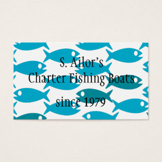 Fishing,seafood or ocean themed business card