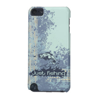 Fishing seascape blue green splash ipod touch case