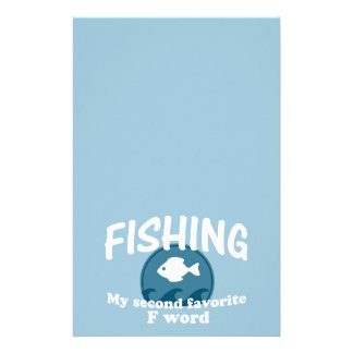 Fishing Second Favorite F Word Stationery