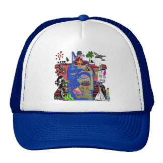 Fishing Shark Infested Waters a Trucker Hats