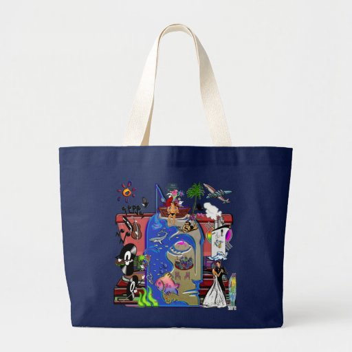 Fishing Shark Infested Waters a Jumbo Tote Bag
