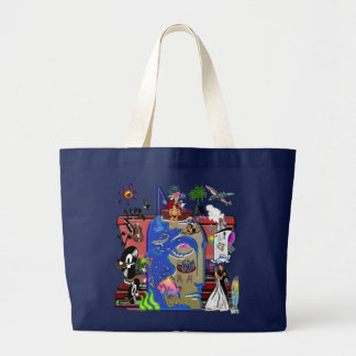 Fishing Shark Infested Waters a Large Tote Bag