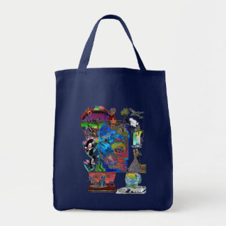 Fishing Shark Infested Waters c Tote Bag