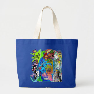 Fishing Shark Infested Waters d Large Tote Bag