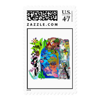Fishing Shark Infested Waters d Postage