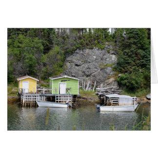 Fishing Sheds in Burlington Card
