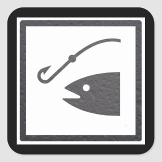 Fishing Sign Square Sticker