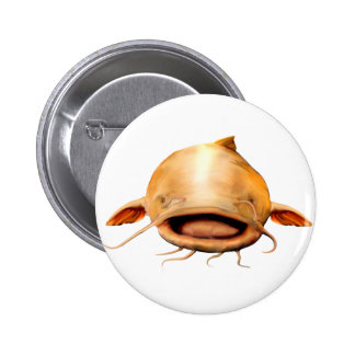 Fishing smile pinback button