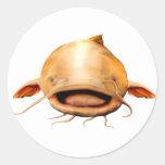 Fishing smile round sticker