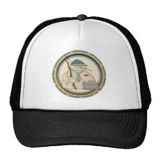 Fishing Snowmen Trucker Hat