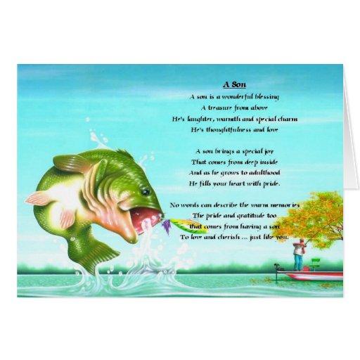 Fishing son poem greeting cards zazzle for Gone fishing poem