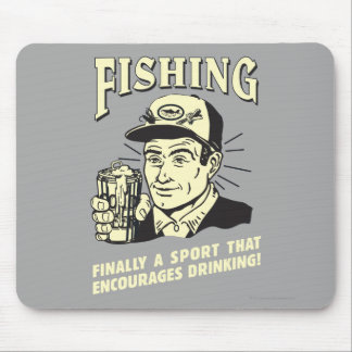 Fishing: Sport Encourages Drinking Mouse Pad