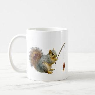 Fishing Squirrel Mug